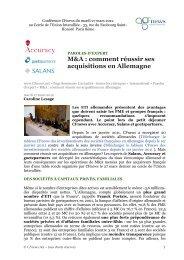M&A : comment réussir ses acquisitions en Allemagne - Accuracy