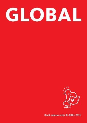 Cenik oglasov revije GLOBAL 2011 - Mladina