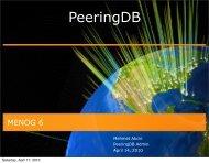 Peering-DB Updates - LACNIC