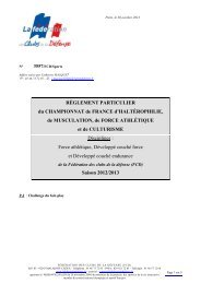 règlement du championnat FA-DC-DC Endurance 2012-2013
