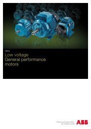 Low voltage General performance motors - Famco