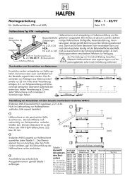 Montageanleitung HTA - 1 - 05/97 - Stingl GmbH