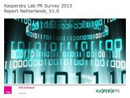 Report NL Kaspersky Lab 2013 - Kaspersky Lab – Newsroom Europe.
