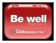 the UIC Wellness Center Orientation presentation
