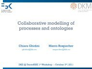 Collaborative modelling of processes and ontologies - DKM - FBK