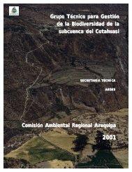 Grupo Técnico para Gestión de la Biodiversidad de la subcuenca ...