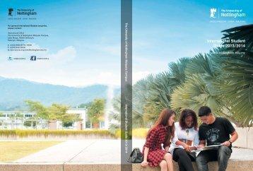 International Student Prospectus - The University of Nottingham ...