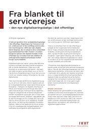 ARTIKEL: Fra blanket til - servicerejse - NNIT