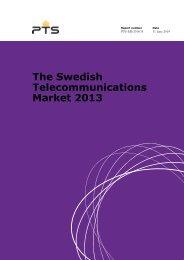 The Swedish Telecommunications Market 2013