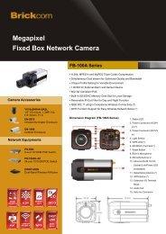 Megapixel Fixed Box Network Camera FB-100A Series - Brickcom