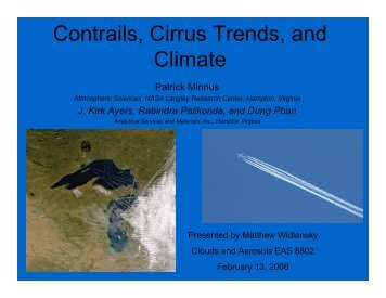 Contrails, Cirrus Trends, and Climate
