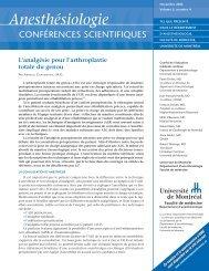 122-033 French - Anesthésiologie conférences scientifiques