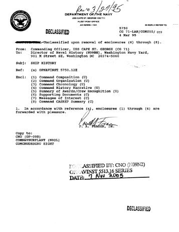 declassified - Naval Historical Center