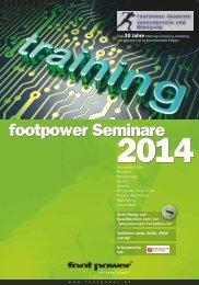 seminare 2014 - Footpower