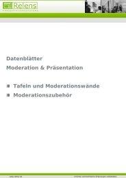 Datenblätter Moderation & Präsen Tafeln und Moder ... - Relens