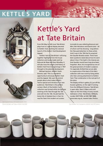 Kettle's Yard at Tate Britain
