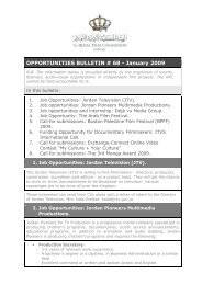 OPPORTUNITIES BULLETIN # 68 - January 2009 - The Royal Film ...