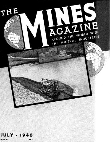 VOLUME XXX NO. 7 - Mines Magazine - Colorado School of Mines