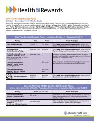 Q4 2012 - How to Earn Healthe Rewards Points ... - Advocate Benefits