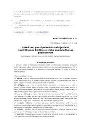 Noteikumi par rūpniecisko avāriju riska novērtēšanas kārtību un ...