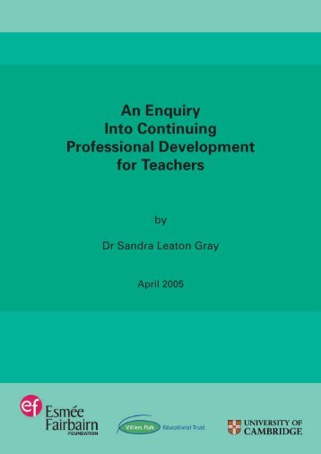 An Enquiry Into Continuing Professional Development for Teachers