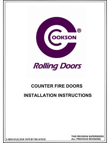 counter fire doors installation instructions - The Cookson Company  sc 1 st  Yumpu & Fire Door Closing System Accessories - The Cookson Company