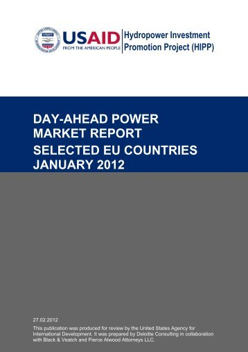 day-ahead power market report selected eu countries january 2012