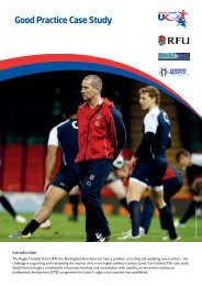 Supporting Highly Qualified Rugby Union Coaches - sports coach UK