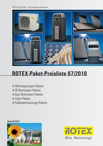 Rotex Paket-Preisliste und Rabattliste für Rotex ... - Heizungs-Discount