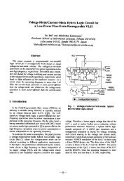 VOltage-Mode/Current-Mode Hybrid Logic Circuit for a Low-Power ...