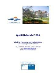 Qualitätsbericht 2008 - Spitalinformation.ch