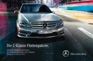 Die C-Klasse Flottenpakete. - Mercedes-Benz Niederlassung Koblenz