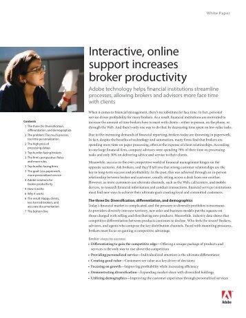 Interactive, online support increases broker ... - Melanie Haiken