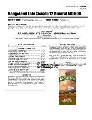RangeLand Late Season 12 Mineral AU5600 - Beeflinks