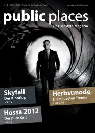 public places Oktober 2012 - Schäfer, Events & Medien