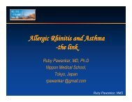 Allergic Rhinitis and Asthma - the link - World Allergy Organization