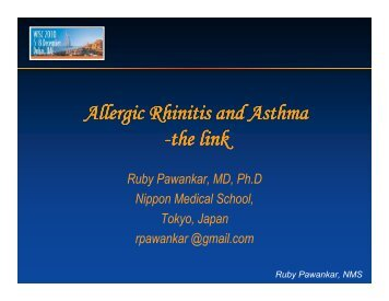 Allergic Rhinitis and Asthma - the link - World Allergy Organization