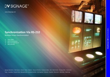 Synchronization Via RS-232 - DV Signage