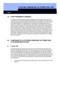 SYSTEME NUMERIQUE DE FERMETURE 3060 - Page 3
