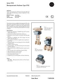 Series 3725 Electropneumatic Positioner Type 3725 Data Sheet T ...