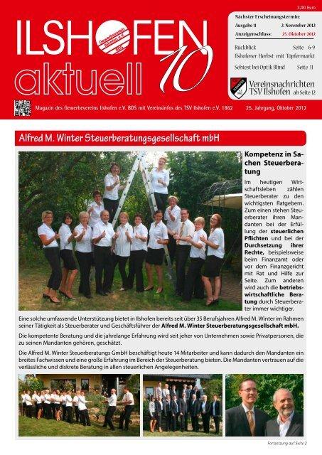 Ausgabe 10/2012 - Gewerbeverein Ilshofen eV / Startseite