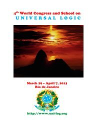 Handbook for UNILOG 2013 - World Congress on Universal Logic