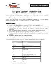 Long Life Coolant – Premium Red Product Data Sheet
