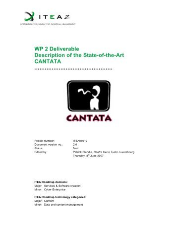 WP 2 Deliverable Description of the State-of-the-Art ... -  Hitech Projects