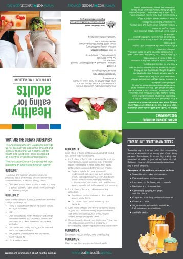 Healthy eating for adults - Brochure (PDF, 3.03MB) - National Health ...
