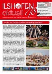 """20 Jahre Flair Park-Hotel Ilshofen """"Feuerwerk der Gastlichkeit"""""""