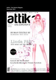 Attika – Das Zürcher Magazin November 2012