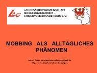 Vortrag Mobbing Frau Bauer