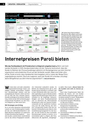 Internetpreisen Paroli bieten - Gentner Verlag