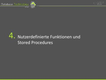 Stored Procedures - Datenbanken